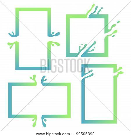 Vector illustration with abstract colorful square. Abstract splash, liquid shape. Background for poster, cover, banner, placard. Logo design
