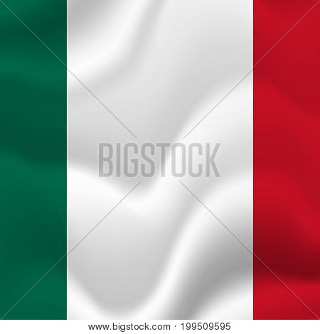 Mexico waving flag. Waving flag. Vector illustration.