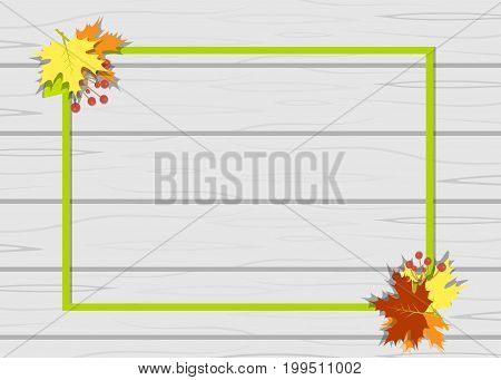 Frame leaves autumn tree vector  graphic, school, autumnal