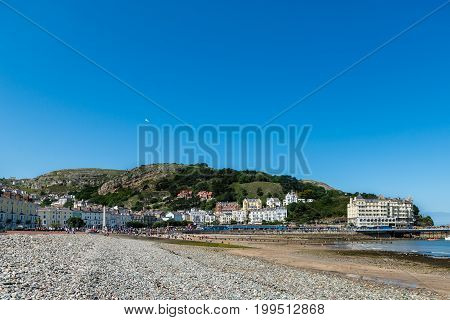 Llandudno Sea Front In North Wales, United Kingdom