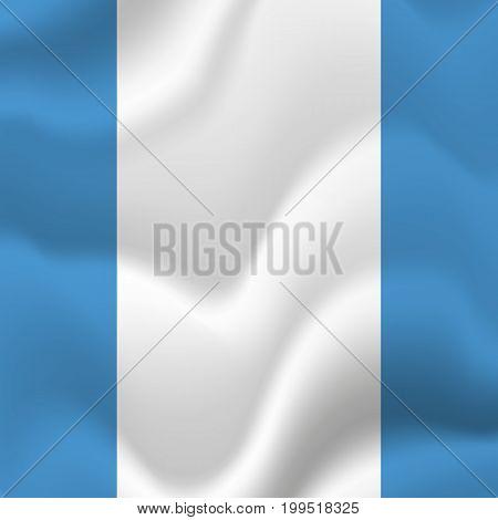 Guatemala waving flag. Waving flag. Vector illustration.