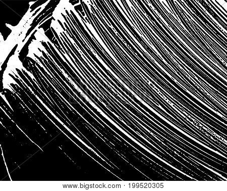 Grunge Soap Texture. Distress Black And White Rough Foam Trace Graceful Background. Noise Dirty Rect