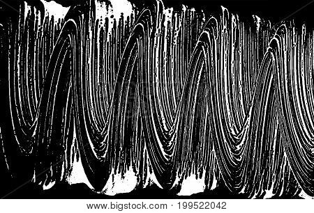 Grunge Soap Texture. Distress Black And White Rough Foam Trace Rare Background. Noise Dirty Rectangl