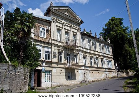 The old mansion in old part of Sukhumi, Abkhazia