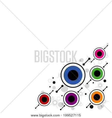 abstract modern circle background isolated on white