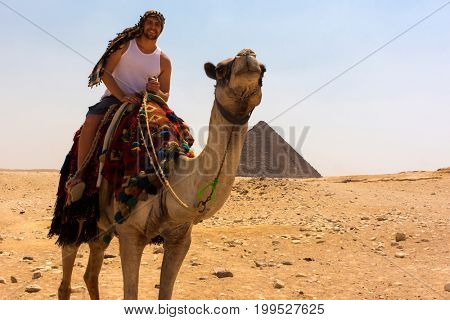 Young tourist in Cairo, Egypt
