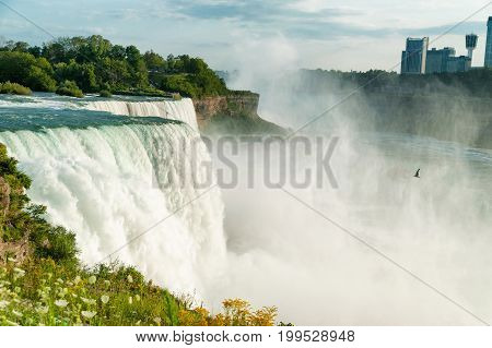 Beautiful view on Niagara Falls in daylight