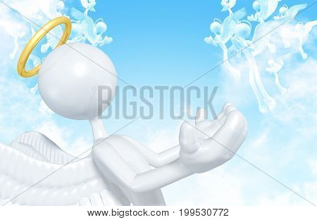 The Original 3D Character Illustration Angel