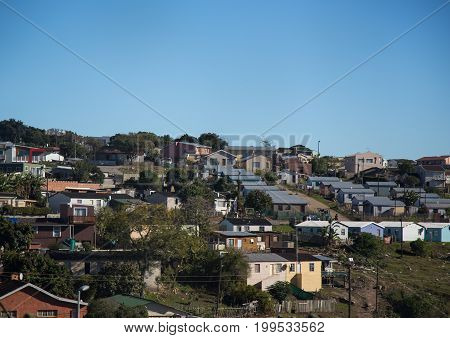 Small Town in the Western Cape in South Africa during summer