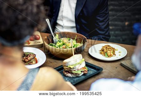 Cooked food on the table