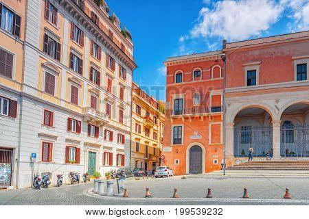 Rome, Italy-may 08, 2017: Basilica Di San Pietro In Vincoli. San Pietro In Vincoli (saint Peter In C