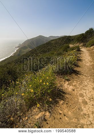 Backbone Trail along Pacific Coast Highway, California