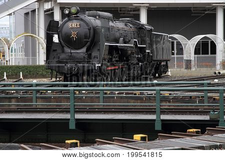 Steam Locomotive In Umekoji Steam Locomotive Shed, Kyoto, Japan