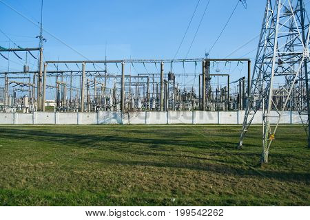 Power station for electrical Industry in city