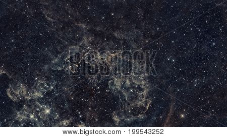Universe Filled With Stars And Galaxy. Elements Of This Image Furnished By Nasa