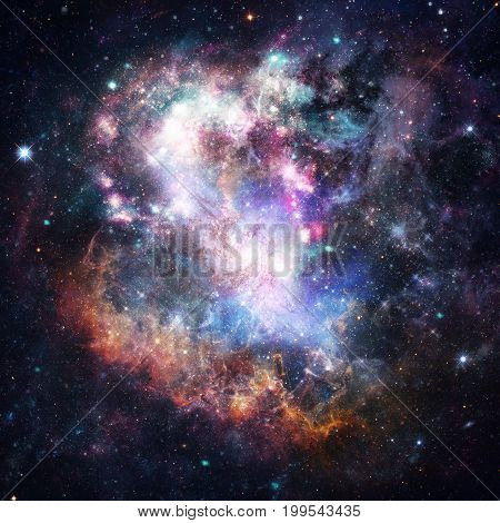 Nebula, Galaxy And Stars. Abstract Science Background.