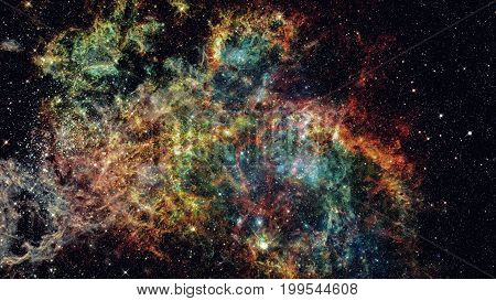 Starry Outer Space Background Texture. Science Art.