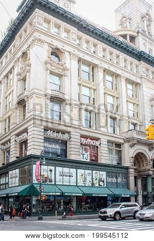 New York USA - 27 September 2016: The Siegel-Cooper Building at 616-632 Sixth Avenue in the Flatiron District of Manhattan New York City within the Ladies' Mile Historic District