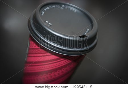 Coffee or hot liquids in a to-go cup