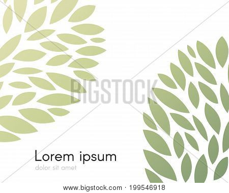 Background with abstract foliage decoration elements. Vector illustration