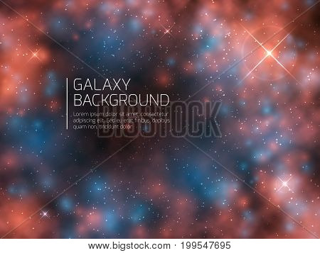 Universe galaxy and night stars. Cosmos mystical supernova abstract vector background. Nebula astral constellation night sky illustration