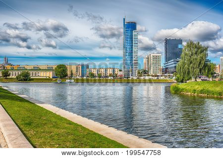 Minsk, Belarus: central part of the city in the summer
