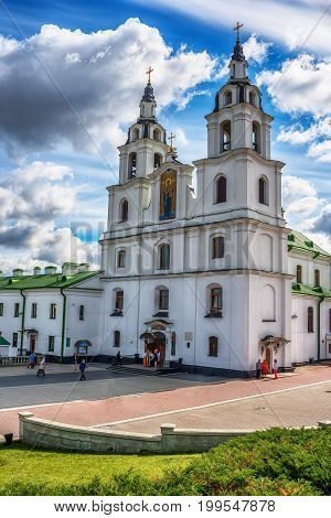 Minsk, Belarus: Orthodox cathedral of the Holy Spirit in the summer