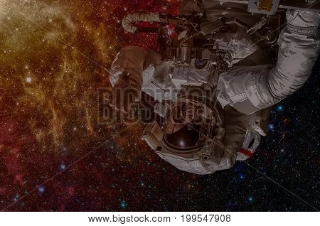 Nasa Space Exploration Astronaut. Elements Of This Image Furnished By Nasa.