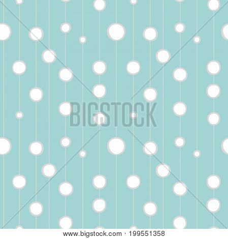 Circles on the line seamless pattern. Modern stylish texture. Blue and white