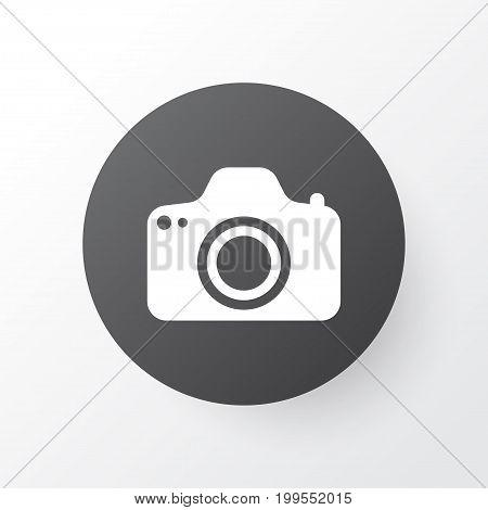 Premium Quality Isolated Camera Element In Trendy Style.  Photocamera Icon Symbol.