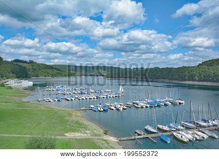 Summer at Biggesee reservoir in Sauerland,North Rhine Westphalia,Germany