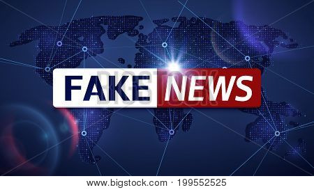 Fake news vector broadcasting television background. Fake news television broadcast screen illustration