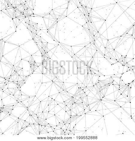 Macro crystal polygonal vector background with chaotic 3d render polygons. Crystal chaotic polygon background illustration