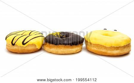 glazed donuts delicious, dessert on a white background