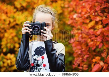 Teen Girl Taking A Shoot