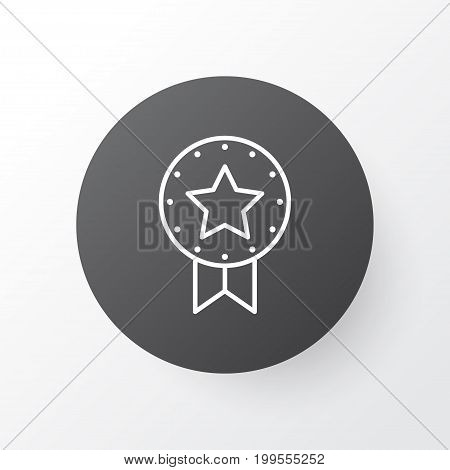 Premium Quality Isolated Present Badge Element In Trendy Style.  Award Icon Symbol.