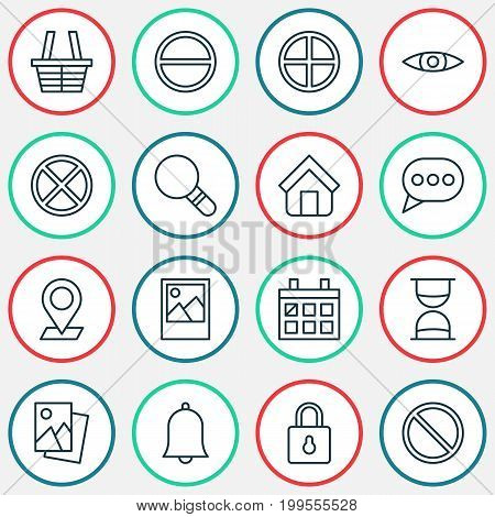 Web Icons Set. Collection Of Safeguard, Research, Refuse And Other Elements