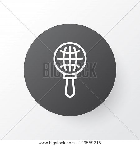 Premium Quality Isolated Globe Search Element In Trendy Style.  World Exploration Icon Symbol.