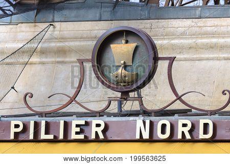 Paris/ France - 31-03-2013: Nord entrance to Eiffel tower in Paris