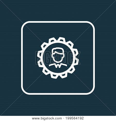 Premium Quality Isolated Manager Element In Trendy Style.  Leader Outline Symbol.