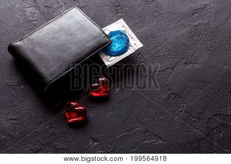 concept safe sex with condom on white background close up