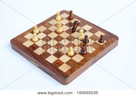 Chess king is checkmated, chess game over