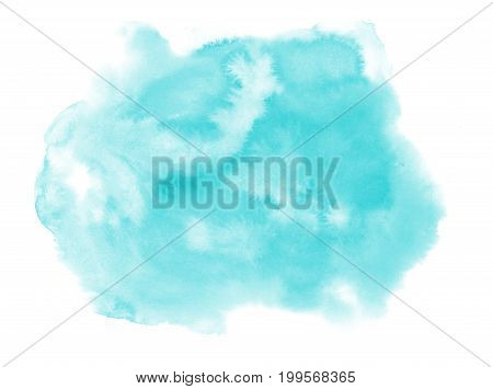 Watercolor blot isolated on white background. watercolor blot for your design.