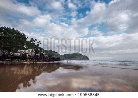 North Spain, Biskay Bay coast, part of Saint Jacob Way
