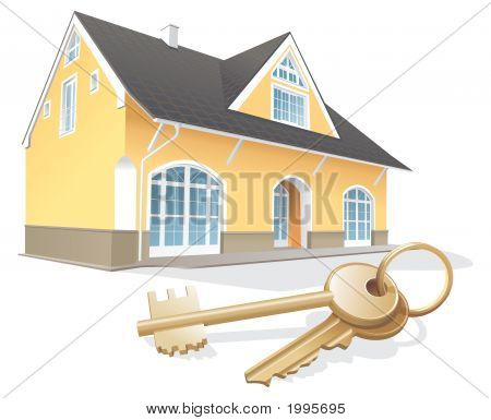 Keys, New Home, Realty. Vector