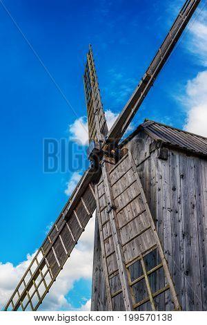 Saarema Island, Estonia: Angla windmill in Leisi Parish in the summer