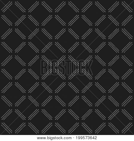 Geometric dotted vector black and white pattern. Seamless abstract modern texture for wallpapers and backgrounds
