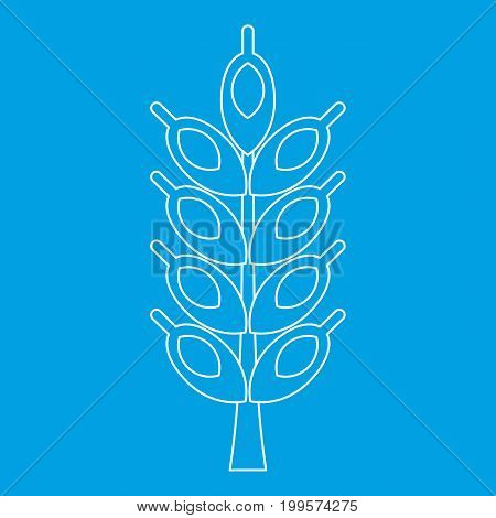 Big spike icon blue outline style isolated vector illustration. Thin line sign