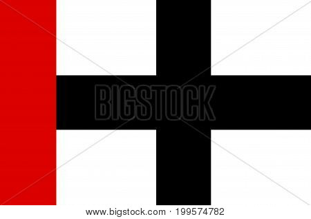 Flag of Konstanz is a city in south of Baden-Wurttemberg of German. Vector illustration from the