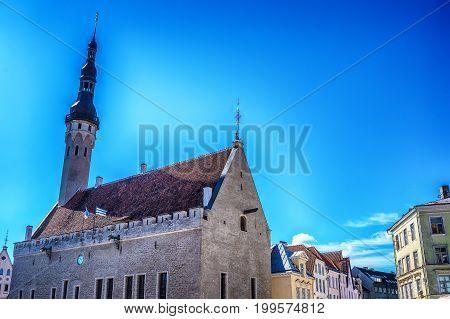 Tallinn, Estonia: the famous town hall, called Raekonda